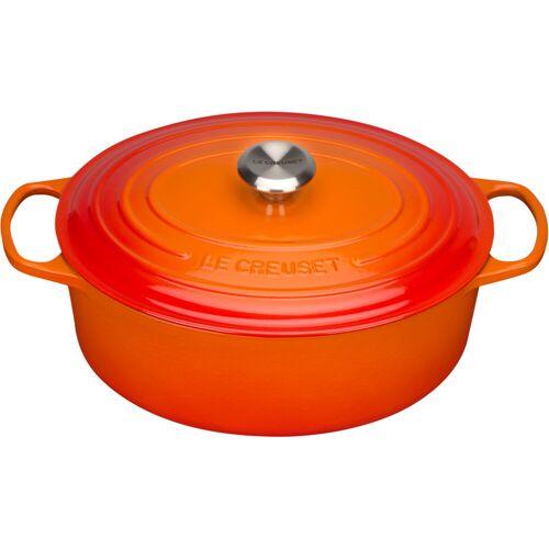Le Creuset Ovaler Bräter 31 cm Orangerot Topf