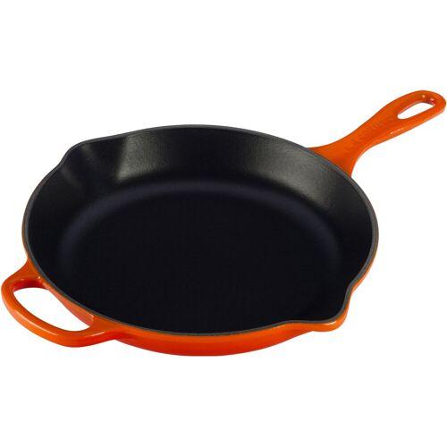 Le Creuset Runde Tiegel-Bratpfanne 23 cm Orangerot Topf
