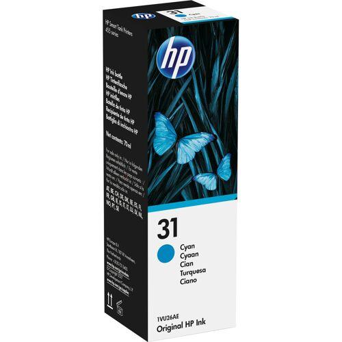 HP 31 Tintenflasche Cyan Patrone