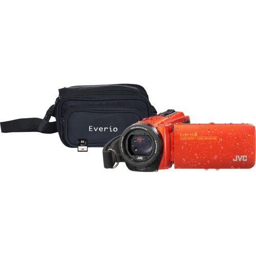 JVC GZ-R495DEU Orange + Speicherkarte + Tasche Camcorder