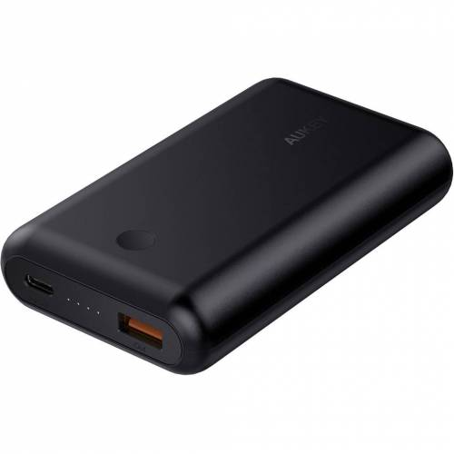 Aukey Powerbank 10.050 mAh Power Delivery + Quick Charge Schwarz