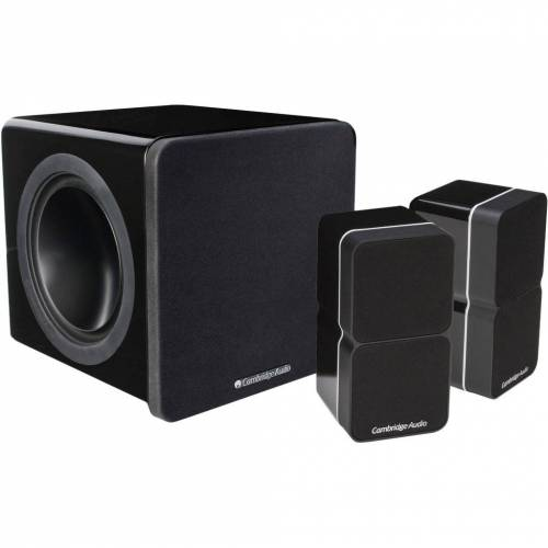 Cambridge Audio Minx Min 22 2.1-Set Schwarz HiFi-Lautsprecher
