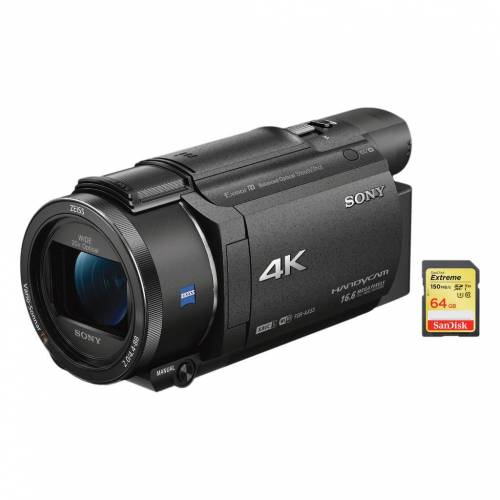 Sony FDR-AX53 + SanDisk-Speicherkarte 64 GB Camcorder