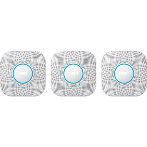 Google Nest Protect V2 Batterie, 3er-Pack Rauchmelder