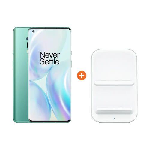 OnePlus 8 Pro 256 GB Grün 5G + OnePlus kabelloses Ladegerät 30W Handy