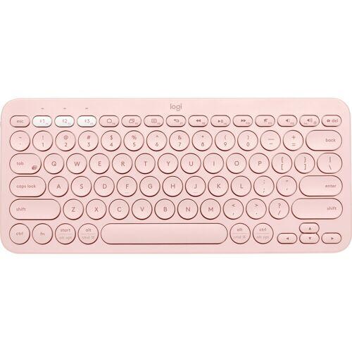 Logitech K380 kabellose Tastatur QWERTZ Rosa Tastatur