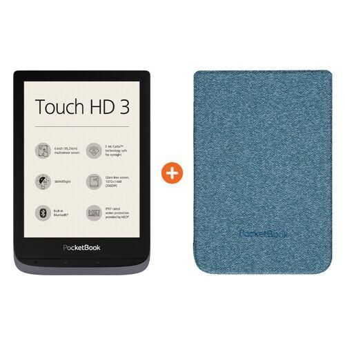 Pocketbook Touch HD 3 Grau + Pocketbook Shell Touch HD 3 Blau E-Reader