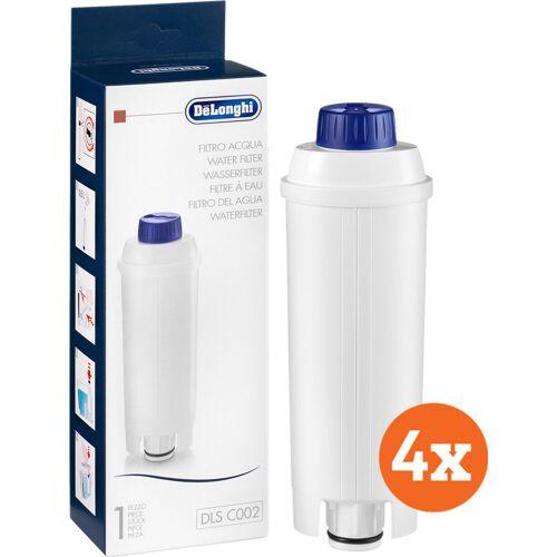 DeLonghi Wasserfilter 4 Stück Wasserfilter für Kaffeemaschinen