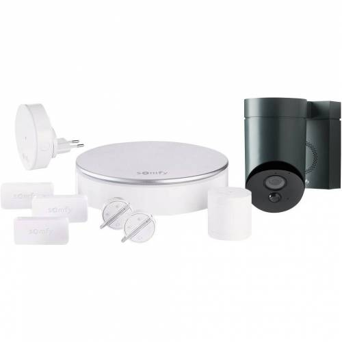 Somfy Protect Home Alarm + Outdoor Camera Grau Alarmanlage