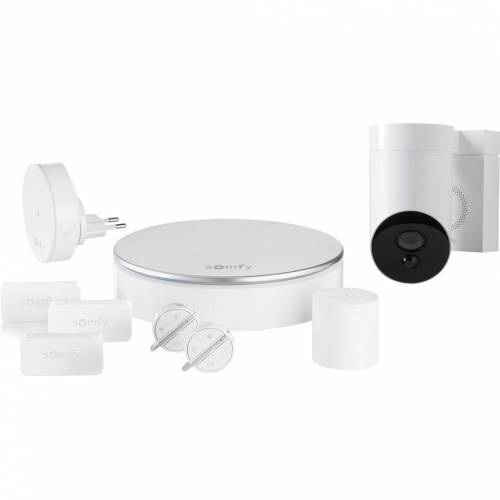 Somfy Protect Home Alarm + Outdoor Camera Weiß Alarmanlage