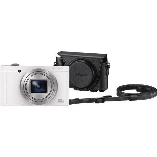 Sony CyberShot DSC-WX500 Weiß + LCJ-HWA Kamerahülle Kompaktkamera