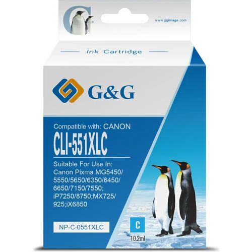 G&G G & G CLI-551XL Patrone Cyan Patrone