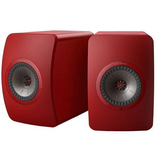 KEF LS50 Wireless II Rot (pro Paar) WLAN-Lautsprecher