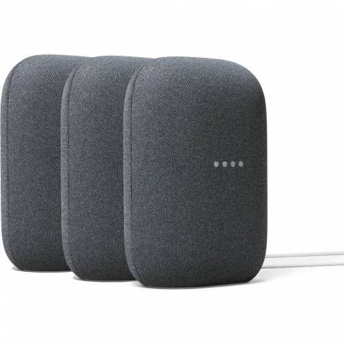 Google Nest Audio Charcoal 3er-Pack WLAN-Lautsprecher