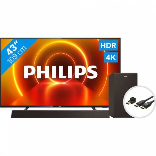Philips 43PUS7805 - Ambilight + Soundbar + HDMI-Kabel Fernseher