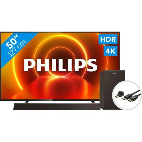 Philips 50PUS7805 - Ambilight + Soundbar + HDMI-Kabel Fernseher