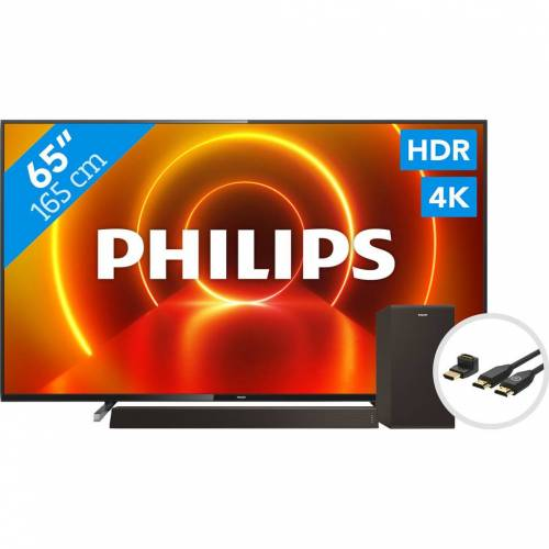 Philips 65PUS7805 - Ambilight + Soundbar + HDMI-Kabel Fernseher
