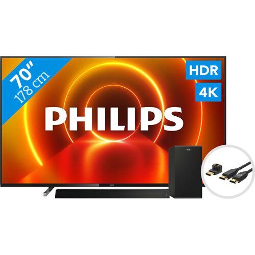Philips 70PUS7805 - Ambilight + Soundbar + HDMI-Kabel Fernseher