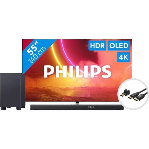 Philips 55OLED855 - Ambilight + Soundbar + HDMI-Kabel Fernseher