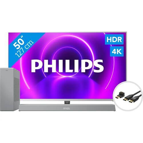 Philips 50PUS8505 - Ambilight (2020) + Soundbar + HDMI-Kabel Fernseher