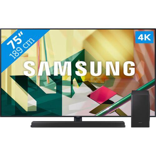 Samsung QLED GQ75Q70T + Soundbar Fernseher