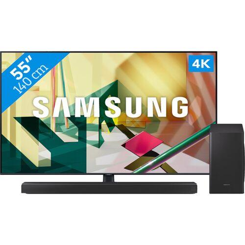 Samsung QLED GQ55Q70T + Soundbar Fernseher