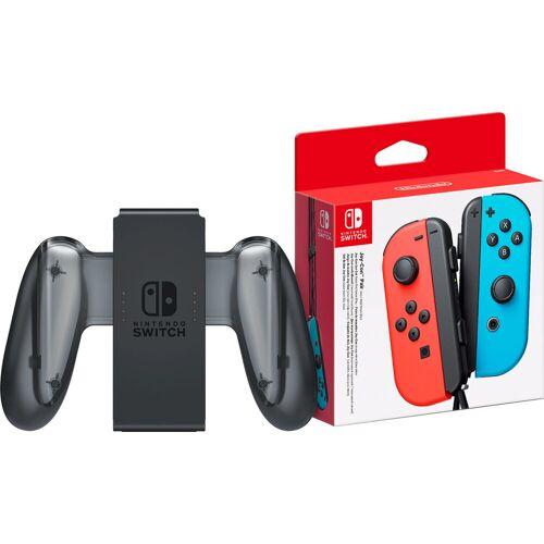Nintendo Switch Joy-Con set Rot/Blau + Nintendo Switch Joy-Con Charge Grip