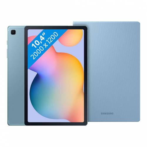 Samsung Galaxy Tab S6 Lite 64 GB WLAN + 4G Blau + Samsung Buchhülle Blau
