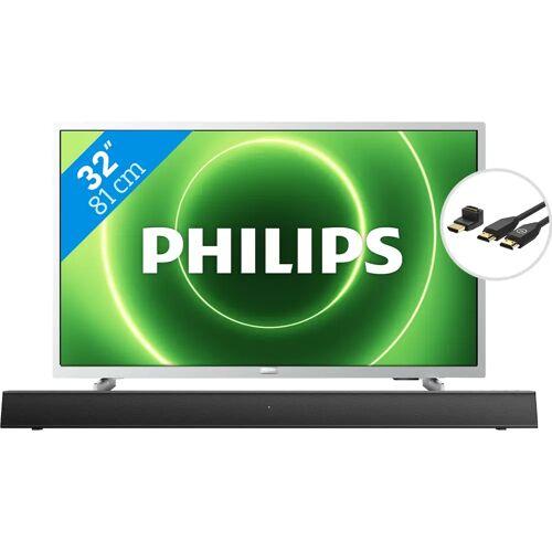 Philips 32PFS6855 + Soundbar + HDMI-Kabel Fernseher