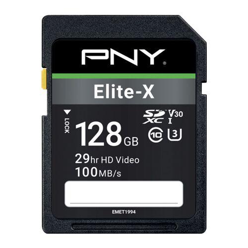 PNY Elite-X SDXC Speicherkarte 128 GB 100 MB/s Speicherkarte