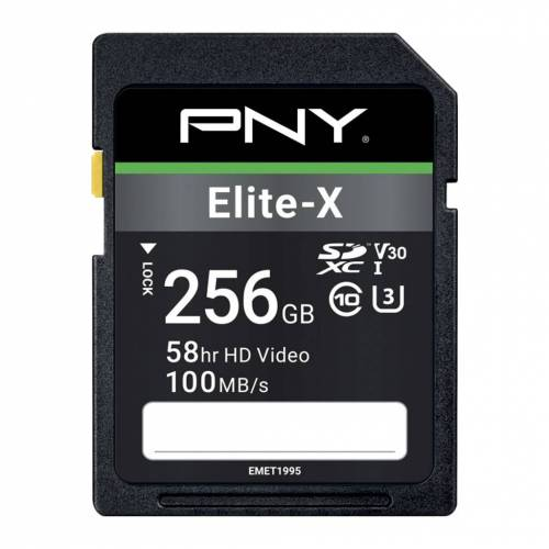 PNY Elite-X SDXC Speicherkarte 256 GB 100 MB/s Speicherkarte