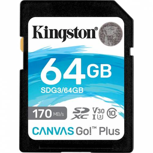 Kingston Canvas Go Plus, 64 GB Speicherkarte