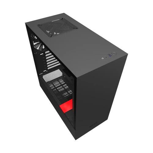 NZXT H510 Schwarz/Rot Computergehäuse