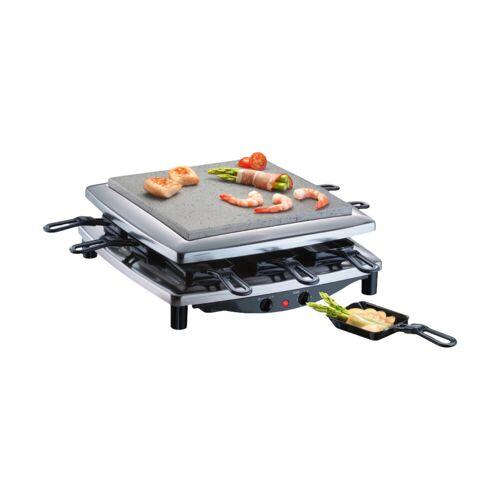 Steba Stone Grill Gourmet Raclette RC3 Plus Chrom Raclette-Grill