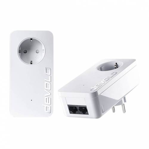 Devolo dLAN 550 Duo + Kein WLAN 500 Mbit/s 2 Adapter PowerLAN-Adapter
