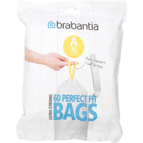 Brabantia Müllbeutel Code A - 3 Liter (60 Stück) Müllbeutel