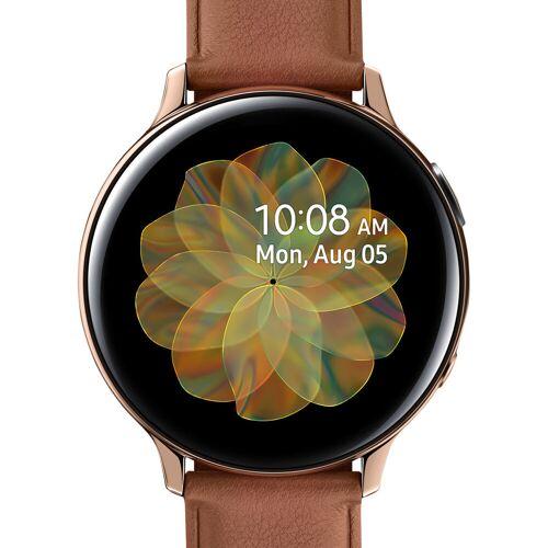 Samsung Galaxy Watch Active2 Gold/Braun 44 mm Edelstahl Smartwatch