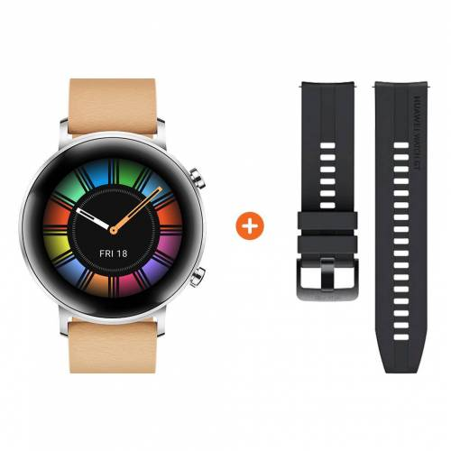 Huawei Watch GT 2 Edelstahl Silber 42 mm Smartwatch