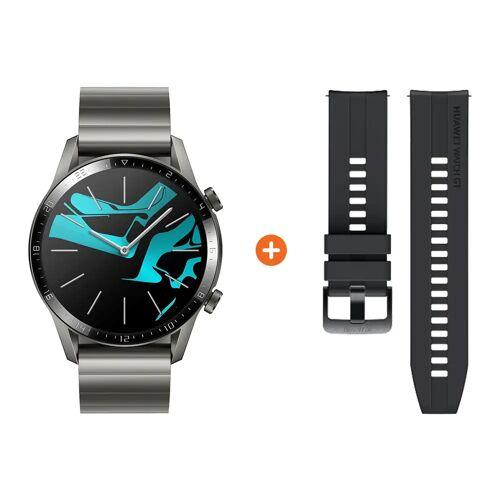 Huawei Watch GT 2 Edelstahl Grau 46 mm Smartwatch