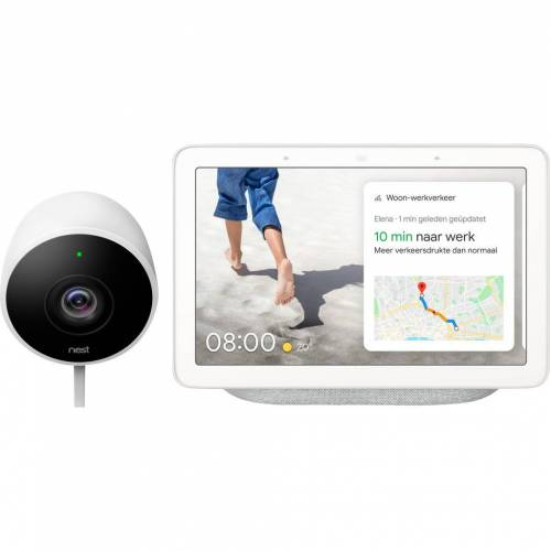 Google Nest Cam Outdoor + Google Nest Hub Chalk IP-Kamera