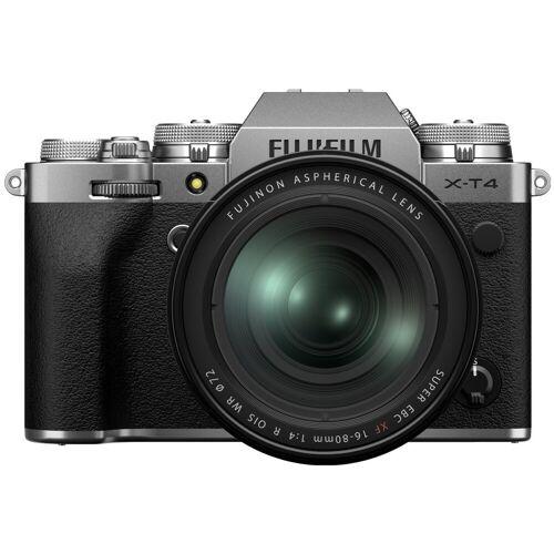 Fujifilm X-T4 Silber + XF 16¿80 mm f/4 R OIS WR Systemkamera