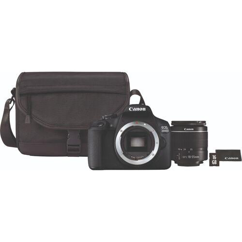 Canon EOS 2000D + 18-55mm f/3.5-5.6 DC III + Tasche + 16 GB Speicherkarte
