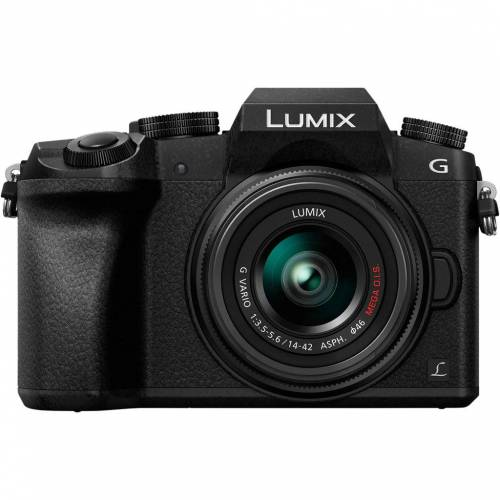 Panasonic Lumix DMC-G7 Schwarz + 14-42 mm Systemkamera