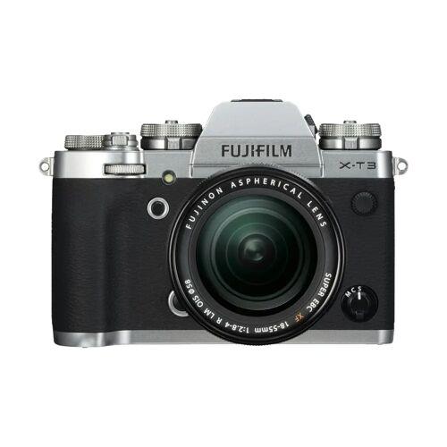 Fujifilm X-T3 Silber + XF 18-55 mm f/2.8-4.0 R LM OIS Systemkamera