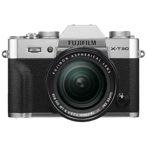 Fujifilm X-T30 Silber + XF 18-55 mm f/2.8-4.0 R LM OIS Systemkamera