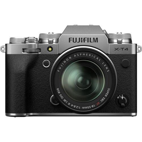 Fujifilm X-T4 Silber + XF 18-55 mm f/2.8-4.0 R LM OIS Systemkamera