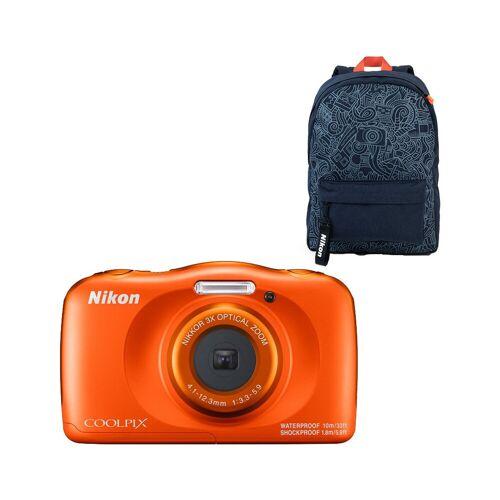 Nikon Coolpix W150 Rucksack-Set Orange Kompaktkamera