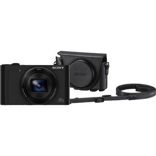 Sony CyberShot DSC-WX500 Schwarz + LCJ-HWA Kamerahülle Kompaktkamera