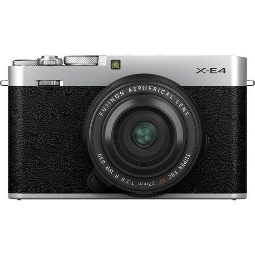 Fujifilm X-E4 Silber + XF 27 mm f/2.8 R WR Systemkamera