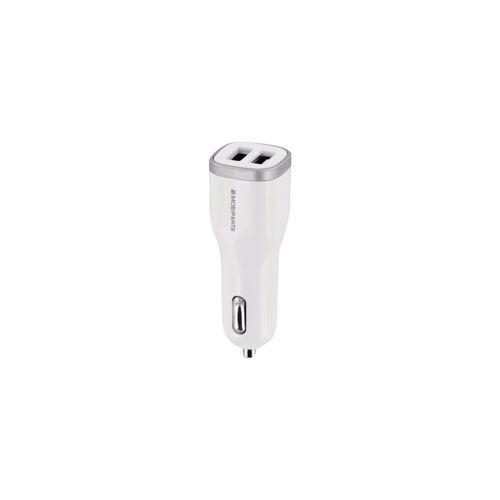 Mobiparts-Autoladegerät Dual USB 2,4 A Weiß Autoladegeräte